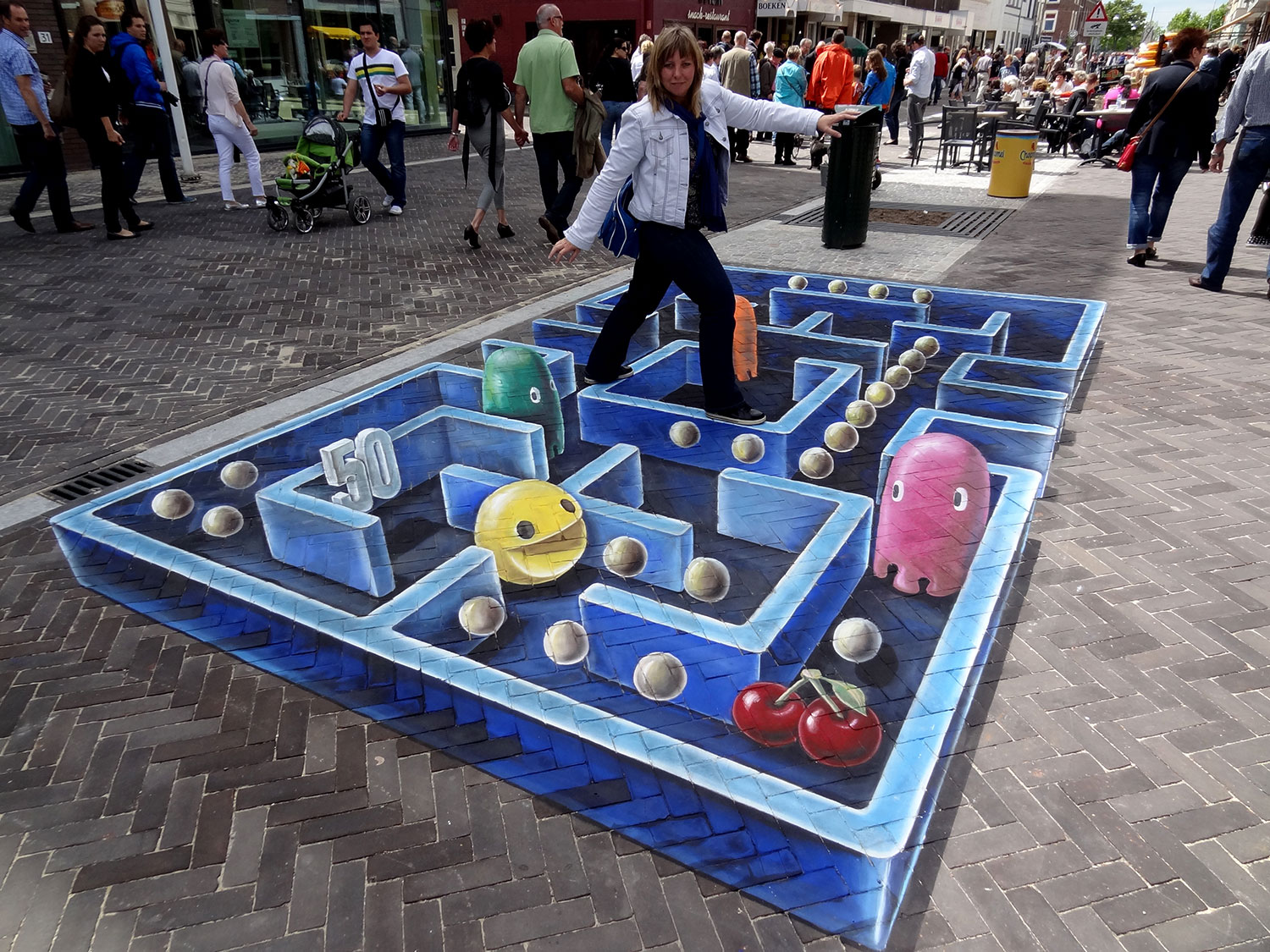 Leon Keer - Paintings in mixed media on canvas, 3d street ...