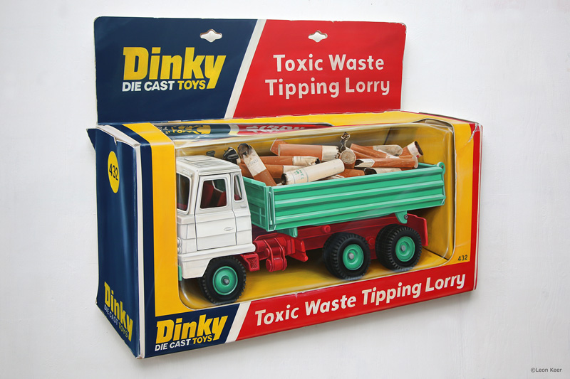Toxic Waste Tipping Lorry painting by Leon Keer