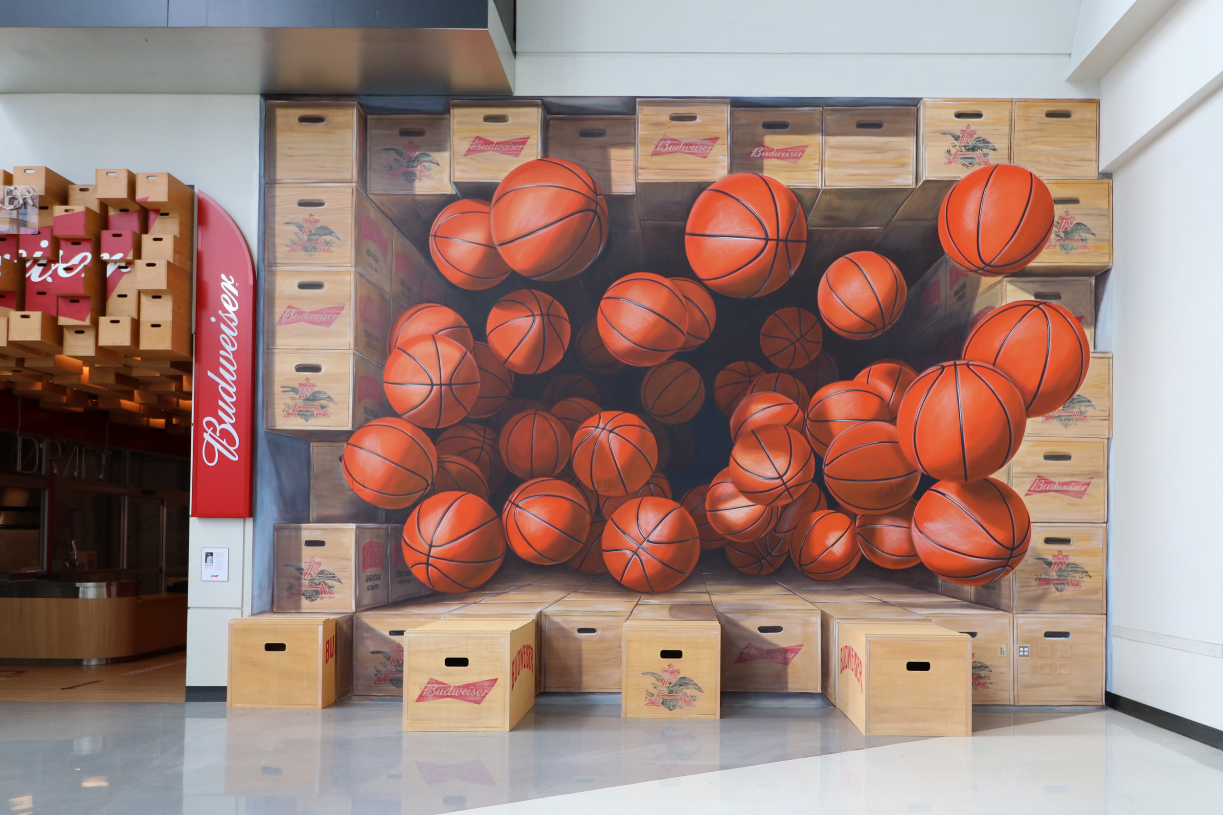 3D Mural with Augmented Reality by Leon Keer at Staples Center LA