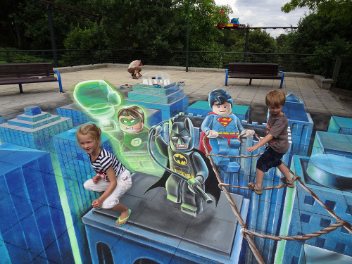 3d-floor-art-lego-superheroes