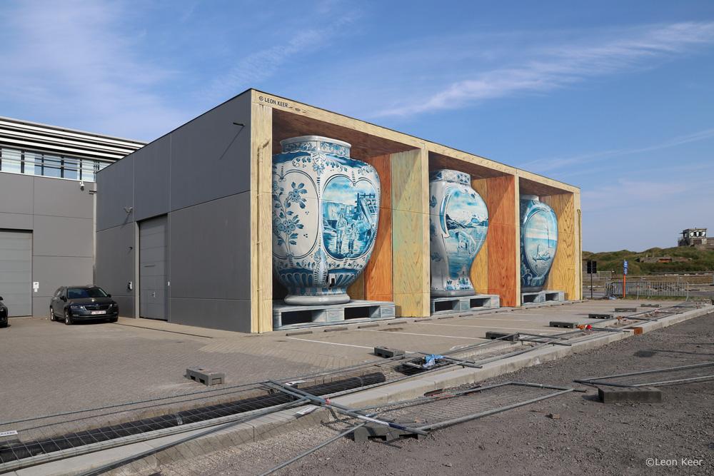 3D Mural Fragile by Leon Keer Ostende Belgium