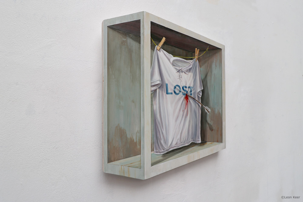 Lost Love 3d painting by Leon Keer
