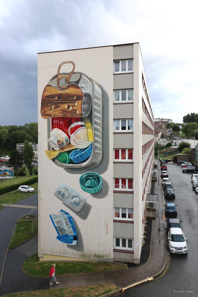 3D Mural Plastic Diet by Leon Keer