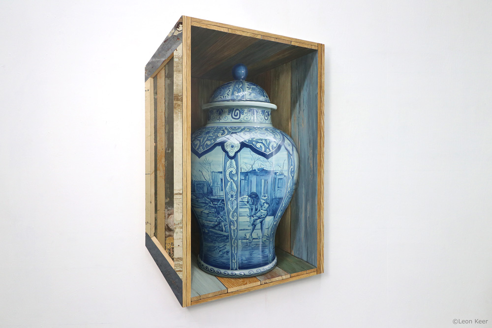 Fragile II delfsblue art by Leon Keer