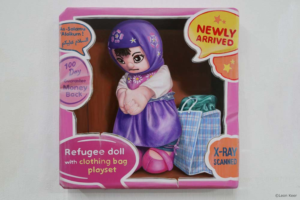 Refugee-doll-by-leonkeer-painting
