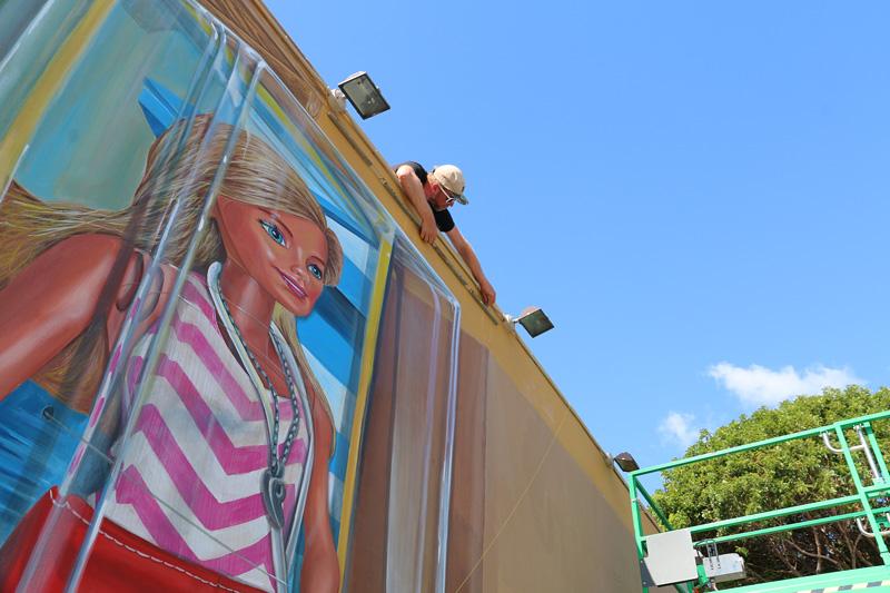 anamorphic Barbie Wynwood walls