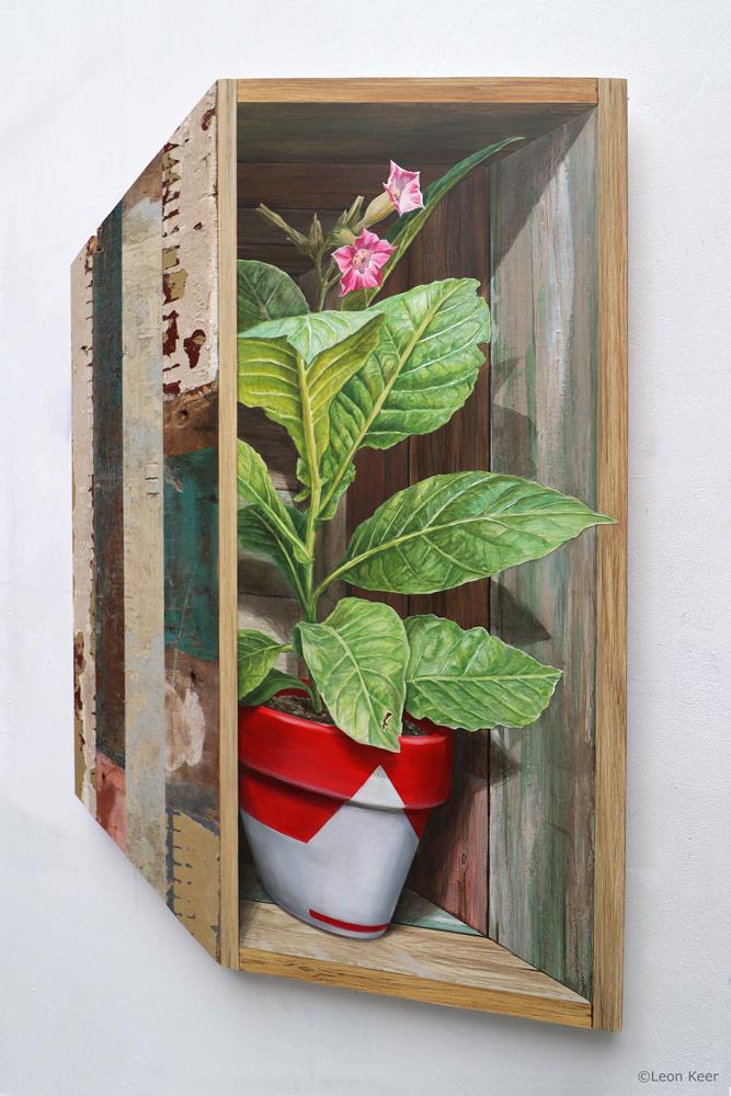 3D painting by Leon Keer 'Nicotiana tabacum' - Leon Keer 3D