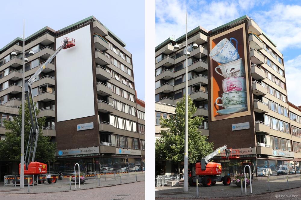 Before After mural helsingborg by Leon Keer