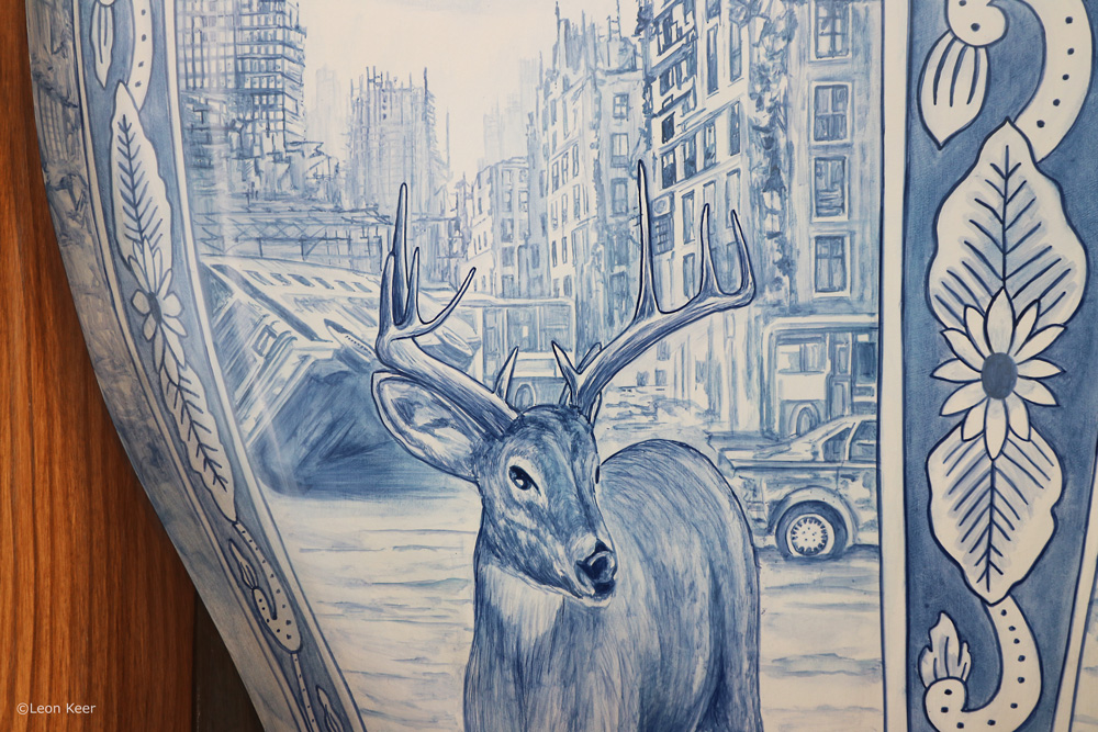 Repossessing territory painting by Leon Keer