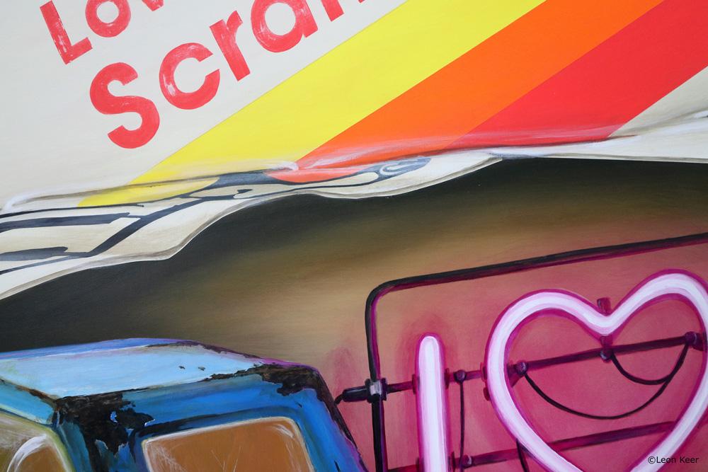 Love scrambler painting by Leon Keer