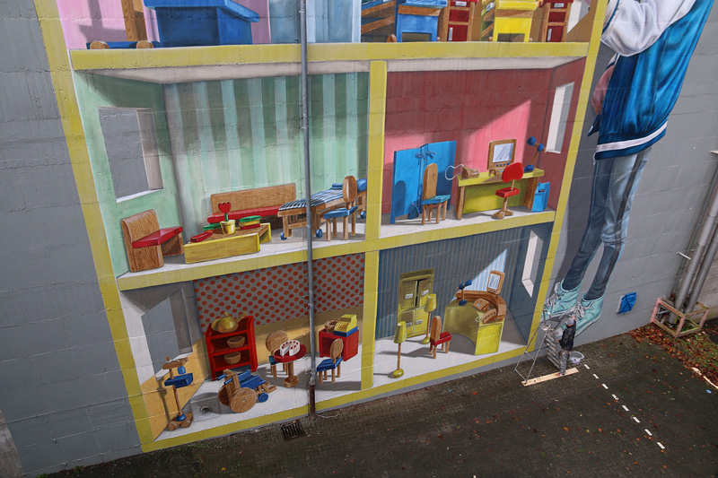 dollhouse-3d-mural-shoes