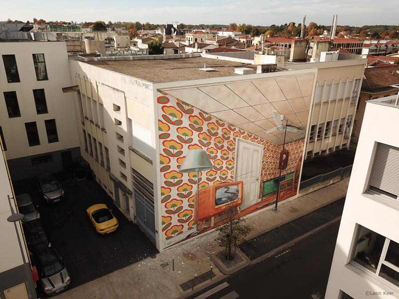 Drone 3d mural Pessac