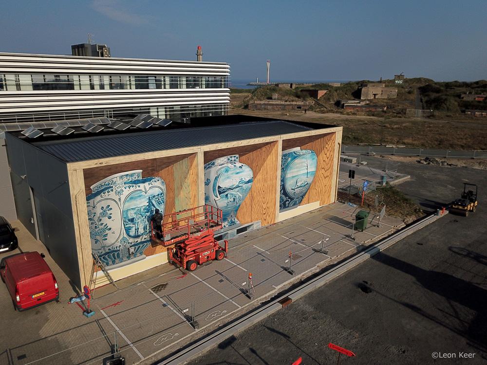 3D mural street art by leon keer
