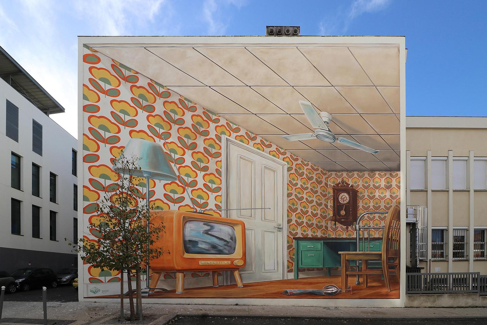 Leon Keer Mural Pessac Front