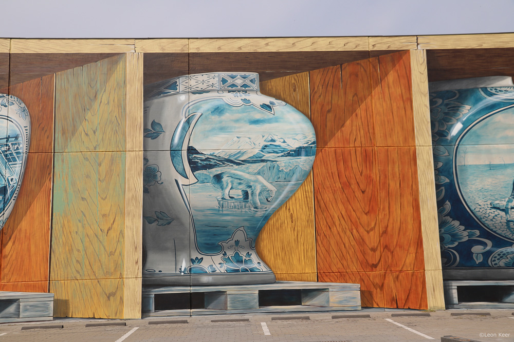 3d mural climate change by leon keer