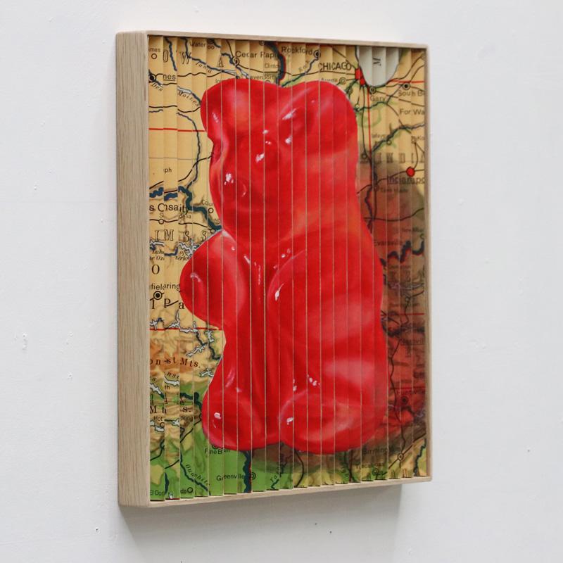 Addiction painting by Leon Keer Gummy Bear