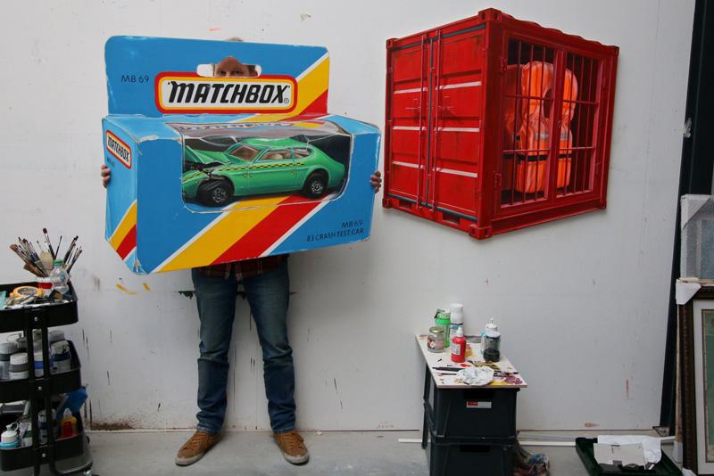 Leon Keer studio matchbox