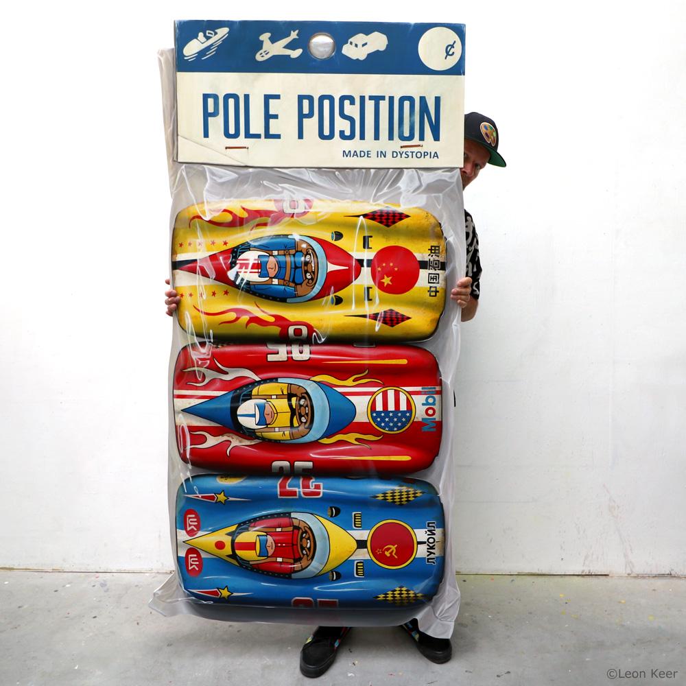 Leon Keer painting pole position