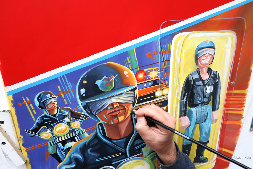 Blind highway trooper by Leon Keer