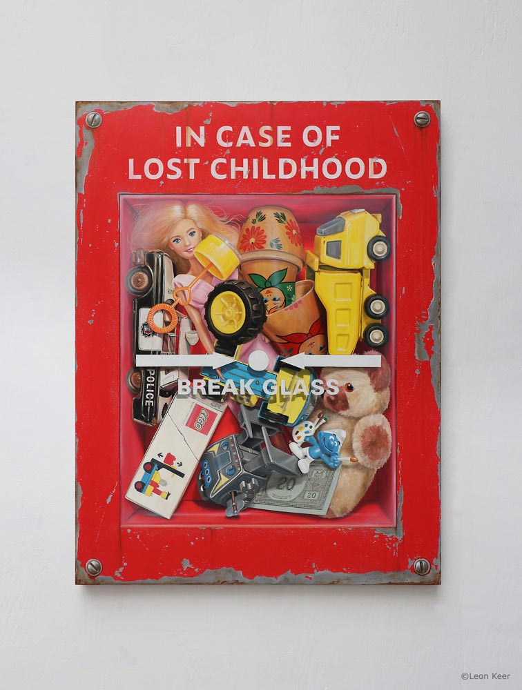 In case of lost childhood painting by Leon Keer
