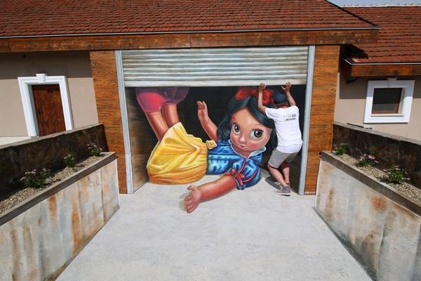 Leon Keer mural 3d