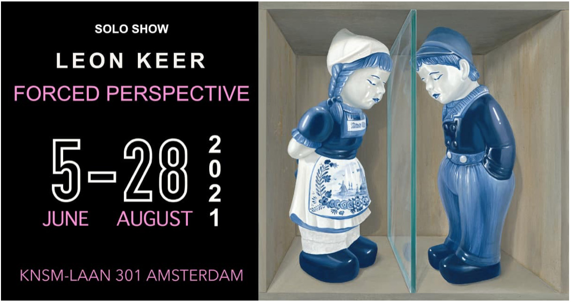 Leon Keer forced perspective show expo Wanrooij Gallery amsterdam