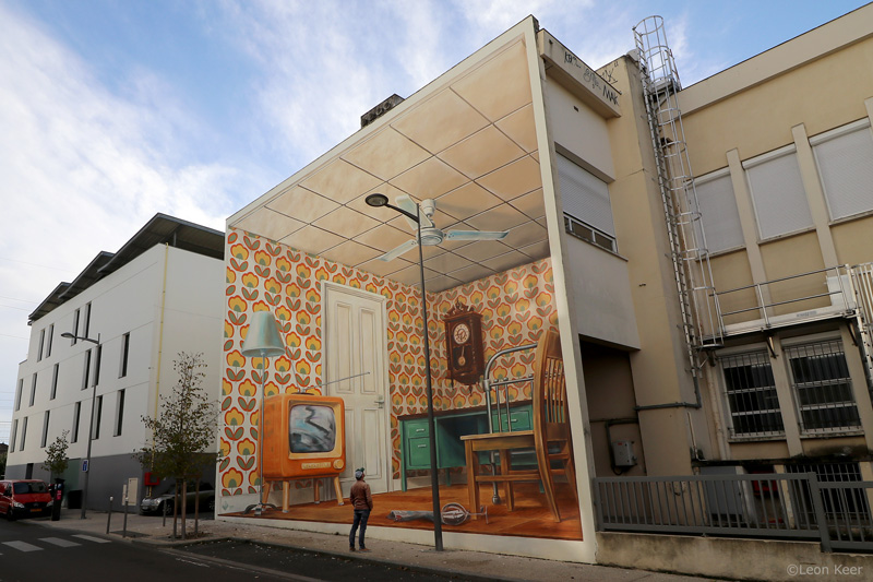3D Mural by Leon Keer with AR