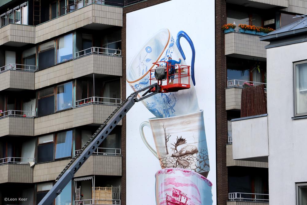 Wip Leon Keer AR mural shattering fragile earth